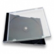 Poly Jewel Box 1 Disc Super Clear With Black Tray