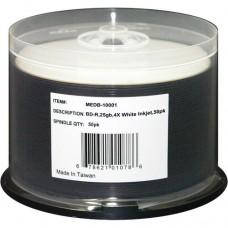 BD-R 6X, White Inkjet Hub-printable